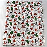 YZMY Stoff Für Patchwork 50 * 145Cm Weihnachten Polyester