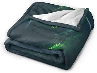 """HHJSZJ Dk Metcalf Blanket Flannel 3D Printed for Unisex Adult Blanket Warm for Sofa 50"""""""" X40"""