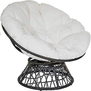 colore: bianco Cuscino imbottito per sedia da bistrot rotondo 40 x 40 cm patio interno ed esterno con rivestimento rimovibile per cucina giardino Lesong sala da pranzo