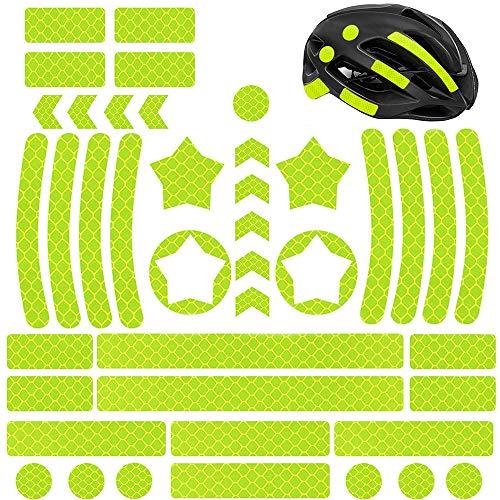 EIKLNN 42 Pezzi Adesivi Riflettenti per Bicicletteio, Adesivi Luminosi Nastro Catarifrangente, Adesivo Catarifrangente Impermeabile, per Carrozzine,Biciclett,Casco,Skateboard,Ginocchiere e Altro