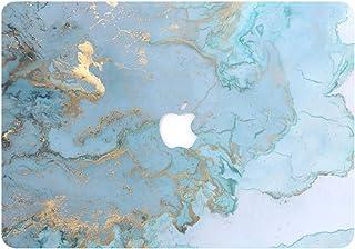 AQYLQ Funda MacBook Pro 13 Retina para Modelo: A1502 y A1425 Ultra Delgado Carcasa Rígida Protector de Plástico Cubierta, Dura de Goma con Acabado Mate, DL 41 -Mármol Azul