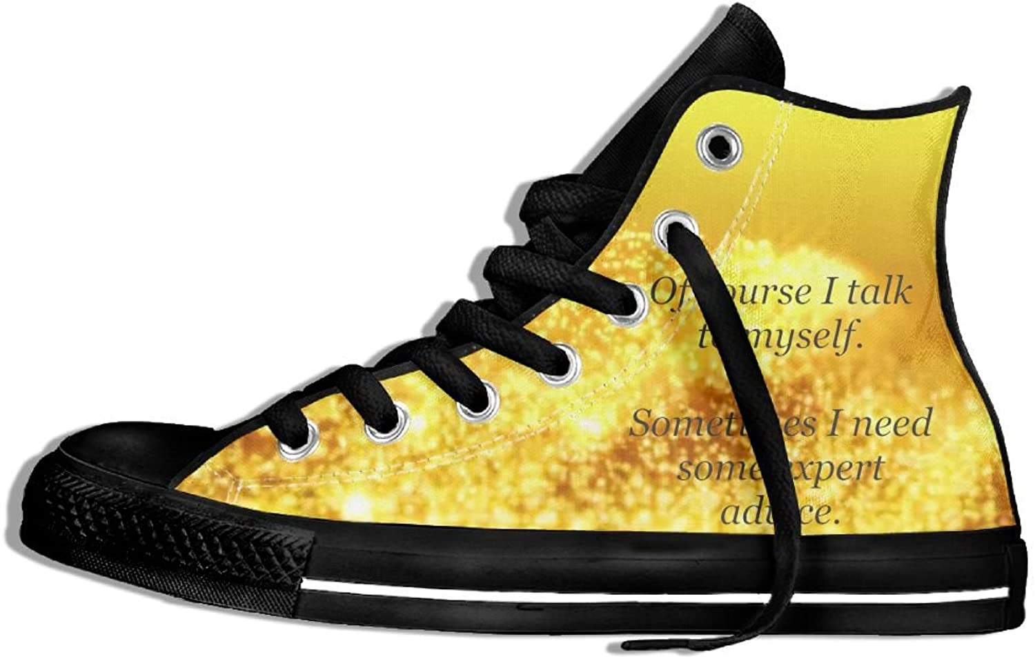 I Talk To Myself Sometimes High Top Classic Casual Canvas Fashion shoes Sneakers For Women & Men