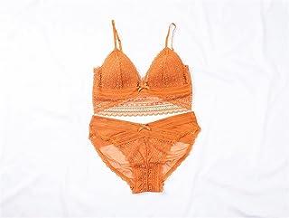 طقم ملابس داخلية منخفض منخفض الارتفاع الدانتيل bralette البرازيلي + لون أبيض قطعة داخلية للنساء طقم ملابس داخلية مثير (الل...