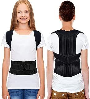 HailiCare Posture Corrector for Men and Women, Upper Back Brace for Clavicle Support, Adjustable Back Straightener Correction for Spinal, Neck, Shoulder & Full Back Pain Relief - S (Waist 24