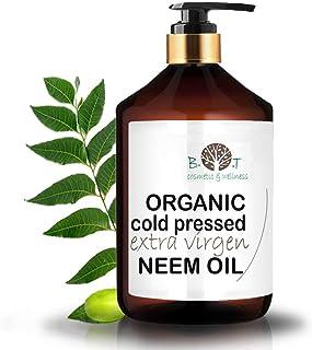 B.O.T cosmetic & wellness Aceite de Neem Virgen Prensado en Frío Primera Presión 100% Puro Bio Aceite Vegetal Non Refinado (500 ml) Azadirachtin 3123.32 ppm.