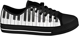 Gnarly Tees Men's Piano Keyboard Shoes Low Top