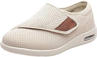 SZFGYJ Unisexe Diabétique Chaussons, Hommes Femmes Enflées Chaussures De Marche Réglables Œdème Chaussures Extra-Larges Sa...