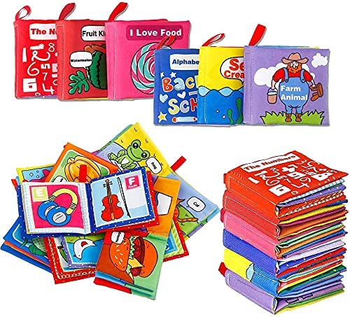 Acekid First Cheap SALE Start Soft Books for Babies Mini 6pcs Toddler Book Our shop most popular Cloth
