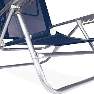 Cadeira Reclinável Mor 5 Posições Azul Alumínio