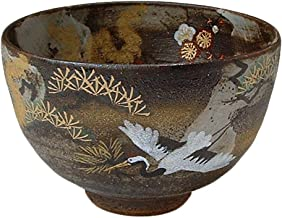 KIYOMIZU Ware Matcha Bowl (Wooden Box) KISSHO Crane