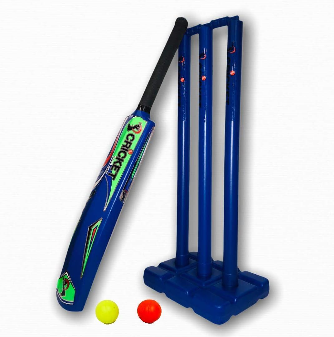 Cricket Plastic Set Blaster All Charlotte Mall items free shipping Beach Blue Play Backyard in Bat