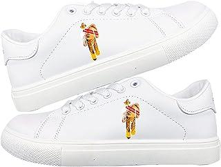 SXDE Billie Eilish Zapatillas de Deporte Transpirables Blanco Zapatos Casuales Casual Toe Round Toe Pequeños Zapatos Blancos