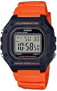 Casio Mens Quartz Watch, Digital Display and Resin Strap W-218H-4B2VDF
