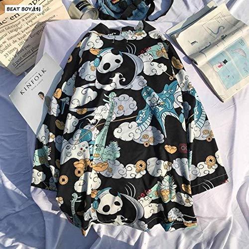 Tradizionale Giapponese Kimono Donne Yukata E Uomo Giapponese Corto Abito Sciolto Kimomo Giapponese Cardigan Kimono Japones Haori Zzzb (Color : Color-4, Size : XXL)