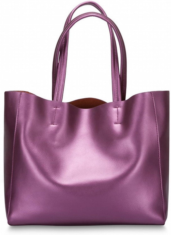 Leder Nappa Schultertasche Handtasche Handtasche Handtasche Handtaschen , lila B077PPW524 871227