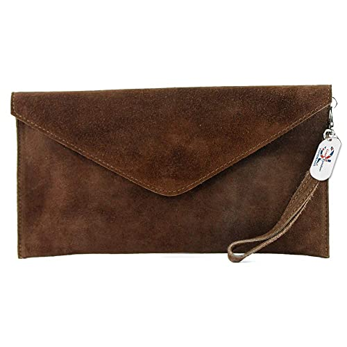 6e90416914 Brand Verapelle Genuine Italian Suede Large Envelope Shaped Clutch bag  Purse handbag Rebecca Clutch Party Prom