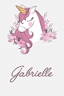Gabrielle And Unicorn: Great Gifts Notebook for Women, Girls, Wives, Mom, Aunt kids Friends | Fun Spy Games for Holiday | ...
