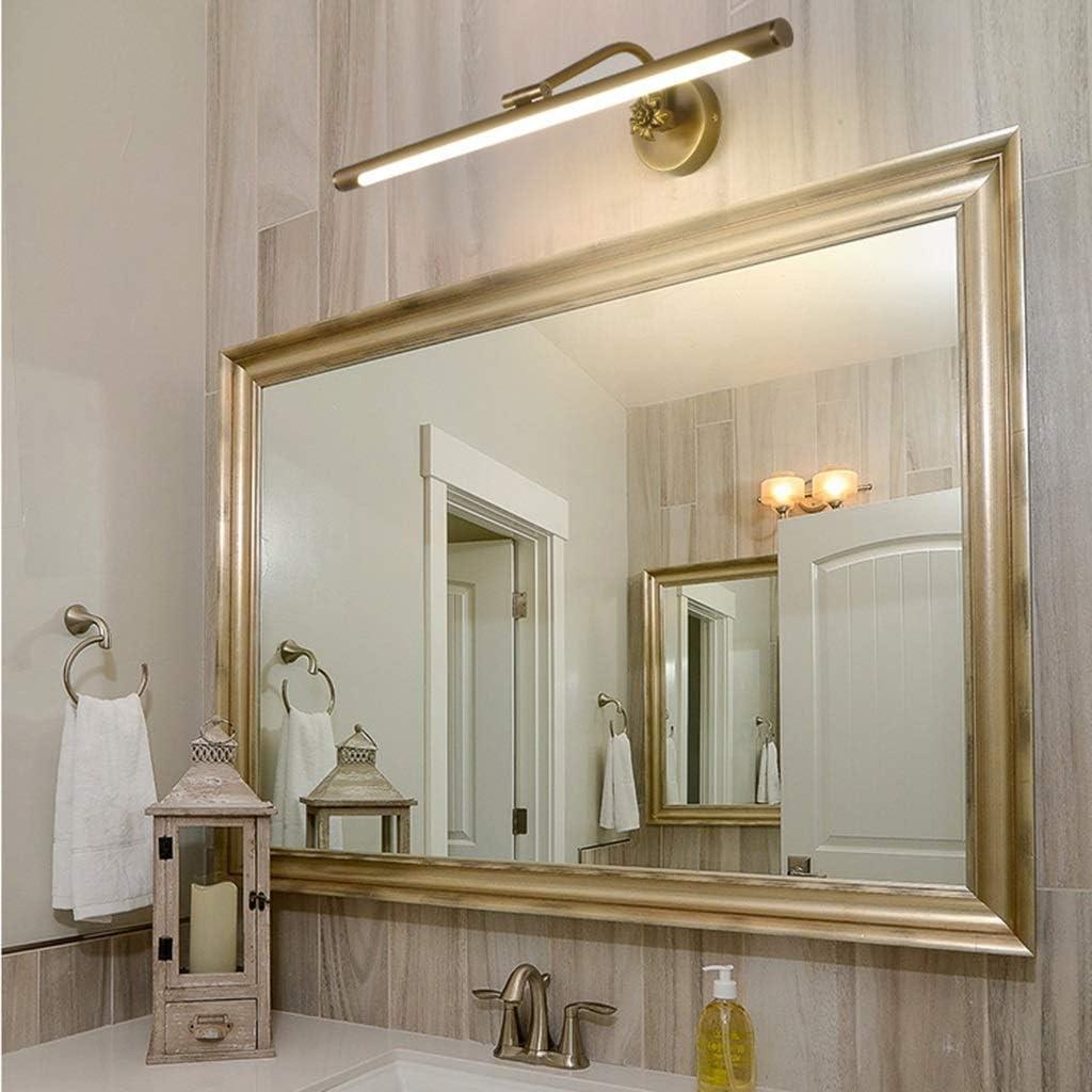 SLL Spiegel Scheinwerfer Einfache Wasserdichte Kosmetikspiegel Schminktisch Badezimmer Moderne Acryl Spiegel Kabinett Licht Einfach Color : Black-100CM-20W