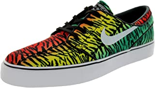 NIKE Mens Zoom Stefan Janoski CNVS Chllng Rd/White-LCD Grn-Tr YLL Fabric Size