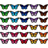 Butterfly Patches Embroidered Badge Iron and Sew Patch Applique for DIY Decor T-Shirt