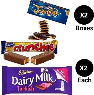 McVities Jaffa Cakes Two Boxes + Cadburys Crunchie & Cadbury Dairy Milk Turkish | 2 bars of each. Total 4 bar pack.