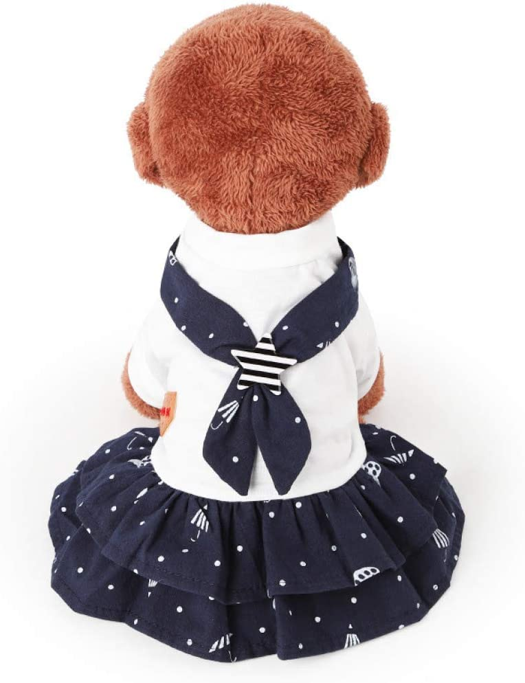 XYSQWZ Discount mail order Nippon regular agency Summer Pet Clothes Dog Navy Lovers Prin Shorts Puppy Cute