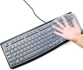 Siliconen Toetsenbord Cover voor Logitech K120 & MK120 Ergonomische Desktop USB Bedrade Toetsenbord Ultra Dunne Beschermen...