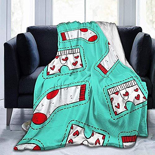 KL Decor Gooi dekens, heren ondergoed en sok hand getrokken grappige Graffiti Ultra zachte gooi deken voor volwassenen kinderen reizen 127x153cm