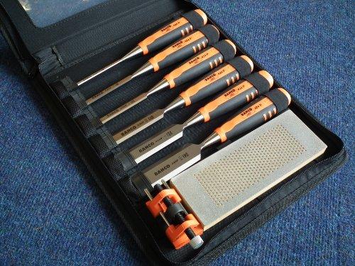 Bahco 424P-S6-ZC Cincel, Silver/Orange/Black, 6/10/12/18/25/32 mm, Set de 6 Piezas