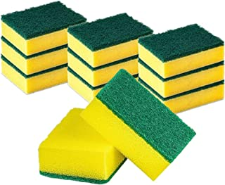 Cleaning Scrub Sponges for Kitchen, Dishes, Bathroom, Car Wash, One Scouring Scrubbing One Absorbent Side, Abrasive Scrubb...