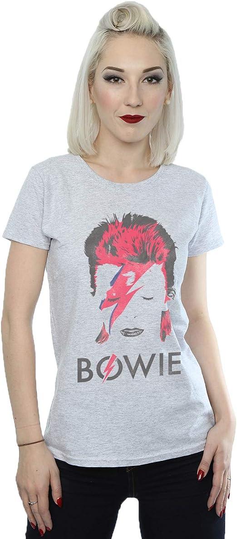 T-Shirt Slim Femme David Bowie /'Aladdin Sane/' Blanc
