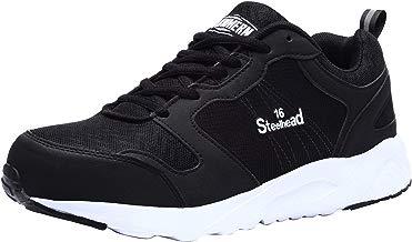 Zapatillas de Seguridad Hombres, LM-1805, Zapatos de Trabajo con Punta de Acero Ultra Liviano Suave y cómodo Transpirable
