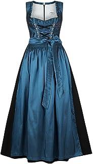 Stützle Damen Dirndl lang festlich blau, blau, 34
