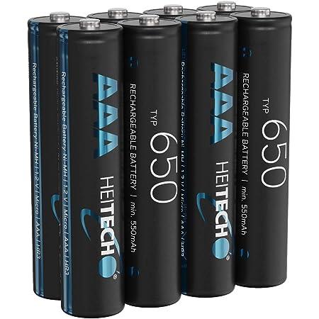 Heitech 650 Akku Aaa Micro 8 Nimh Wiederaufladbare Elektronik
