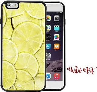 iPhone 6 Plus CASE - Lime Lemons Wallpaper Fruit Summer iPhone 6 Plus, 5.5 Rubber TPU Silicone Phone Case