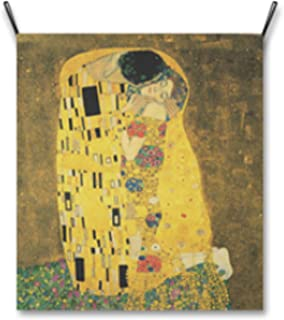 AbundanceHomeDesign The Kiss by Gustav Klimt/Hanging Poster/Tapestry Wall Hanging/Printed on Premium Fabric/Famous Painting Art Collection - Large 39.37