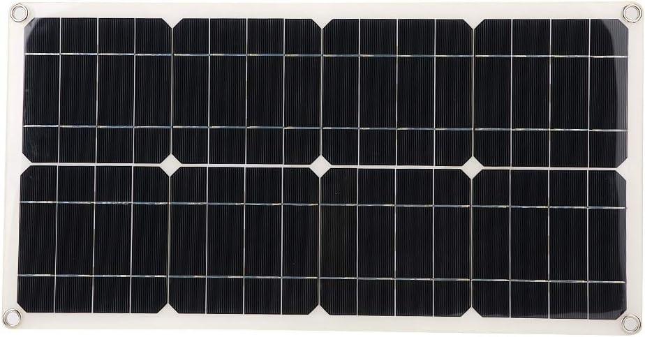 DAUERHAFT Solar Panel Battery 25W Dual Department store 25% OFF Flexible USB Single 5V C