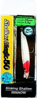 コーモラン(CORMORAN) ミノー アクアウェーブ シャローマジック 50mm 2.8g トゥインクルレッドヘッド #A85 ルアー