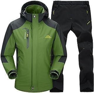 [ベンケ] アウトドアジャケット 上下セット メンズ ウェア 登山服 マウンテンパーカー 多機能 防寒 防風 撥水 耐水圧 5000mm