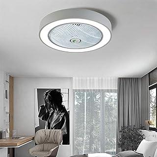 SLZ Ventilador Luz De Techo Luz De Ventilador Luz De Techo Creativa LED Atenuación Ventilador De Techo con Iluminación Y Control Remoto Luz Silenciosa [Nivel De Potencia A],Gray