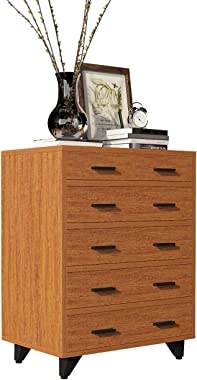 DlandHome 6 Drawers Dresser Storage Cabinet, Free-Standing Entryway Console Table/Hall Table for Living Room, Z159-OK