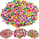 YUENX Abalorios Redondos de Perla de Vidrio acerca de 3290 Piezas Multicolores Abalorios de Cristal para Bisuteria Fabricación de Joyas Pulsera Collar 4MM 6MM 8MM