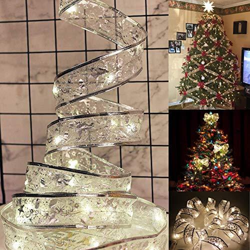 Luces Led Decorativas El Árbol de Navidad, Luz Cadena de Hadas con 40 Leds 4M Cinta Guirnalda de Luces de Cálida Blanca para Interior Exterior Regalos Bodas Festivales Fiestas Habitación Tienda(1 pcs)