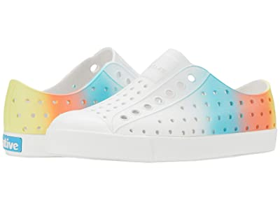 Native Kids Shoes Jefferson Ombre (Little Kid) (Shell White/Shell White/Glow Morning Yellow) Kid