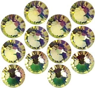 SWAROVSKI Crystal, Round Flatback Rhinestone SS20 4.6mm, 50 Pieces, Crystal Luminous Green F