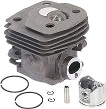 OCPTY 47mm Cylinder Pot & Piston Assembly Kit Compatible for Husqvarna Husky 357 359 REP Cylinder Piston Assembly Replace 537 15 73 02