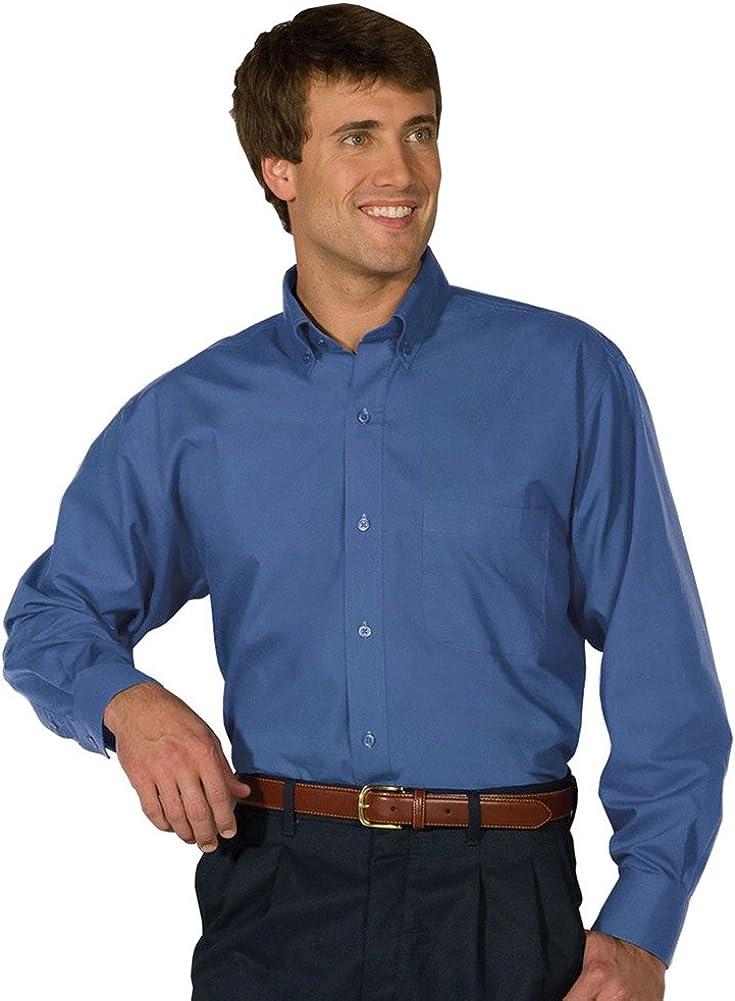 Edwards Men's Long Sleeve Soft Touch Poplin Shirt, French Blue, 6XLarge