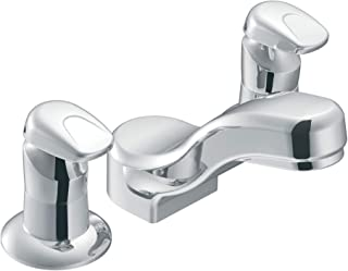 Moen 8889 Commercial M-Press Widespread Metering Lavatory Faucet .5 gpm, Chrome