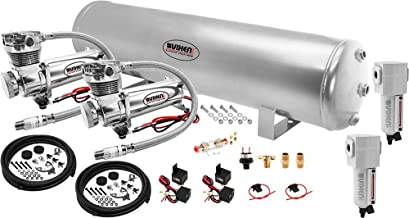 Vixen Air Suspension Kit for Truck/Car Bag/Air Ride/Spring. On Board System- Dual 200psi Compressor, 5 Gallon Tank. for Boat Lift,Towing,Lowering,Load Leveling,Bags,Onboard Train Horn VXO4852GDCF