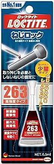 LOCTITE(ロックタイト) ねじロック 263 高強度タイプ 0.5ml LNR-63S